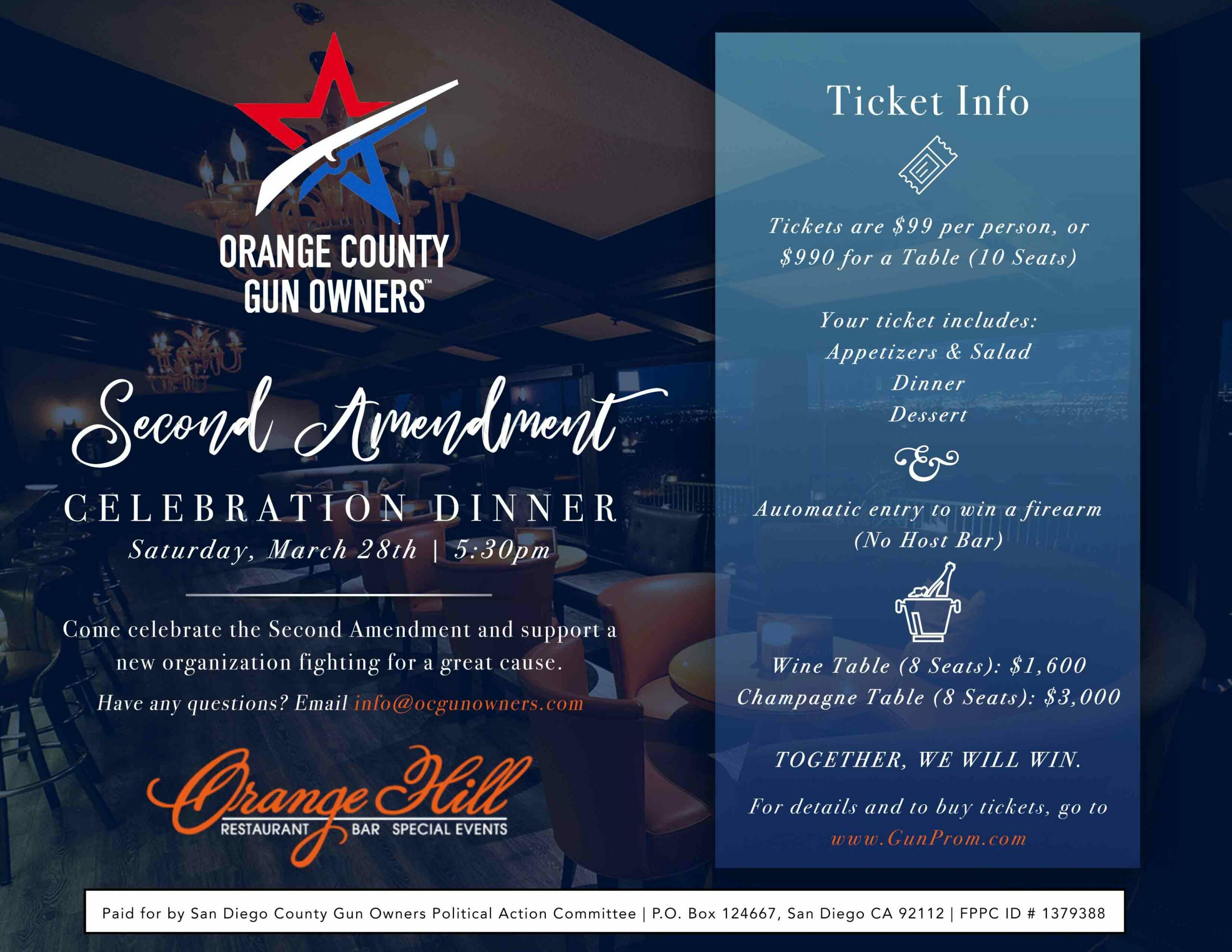 Orange County Gun Owners Dinner